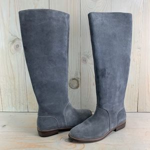 UGG DALEY TALL SUEDE RIDING BOOTS GRAY 7.5 NWD